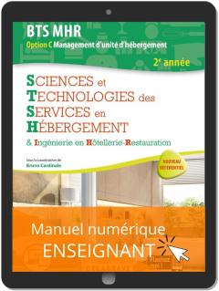 Sciences et Technologies des Services en hébergement 2e année BTS MHR (2020) - Pochette - Manuel numérique enseignant