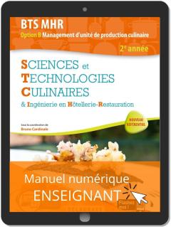 Sciences et Technologies Culinaires (STC) 2e année BTS MHR (2020) - Manuel numérique enseignant