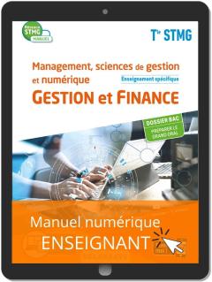 Management, Sciences de gestion et numérique - Gestion et Finance enseignement spécifique Tle STMG (2020) - Manuel - Manuel numérique enseignant