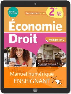 Économie-Droit 2de Bac Pro (2021) - Pochette - Manuel numérique enseignant