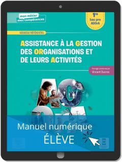 Assistance à la gestion des organisations et de leurs activités 1re Bac Pro (2021) - Pochette - Manuel numérique élève