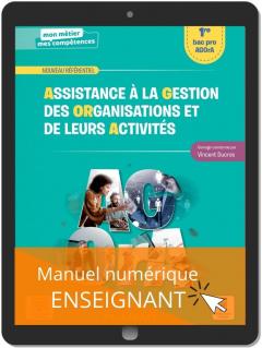Assistance à la gestion des organisations et de leurs activités 1re Bac Pro (2021) - Pochette - Manuel numérique enseignant