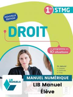 Droit 1re STMG (2021) - Pochette - Manuel numérique élève