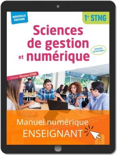 Sciences de gestion et numérique 1re STMG (2021) - Pochette - Manuel numérique enseignant