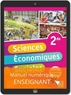 Sciences Économiques et Sociales (SES) 2de (2021) - Pochette - Manuel numérique enseignant