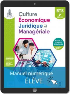 Culture économique, juridique et managériale (CEJM) 2e année BTS (2021) - Pochette - Manuel numérique élève