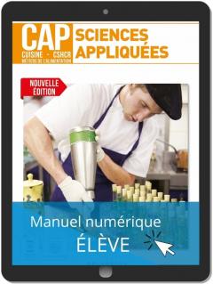 Sciences appliquées 1re et 2e années CAP Cuisine, CSHCR et Métiers de l'alimentation (2021) - Pochette - Manuel numérique élève