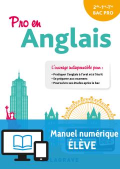 Pro en Anglais (2018) - Pochette - Manuel numérique élève