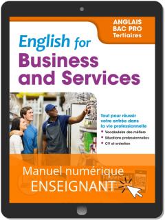 English for Business and Services - Anglais Bac Pro (2019) - Pochette - Manuel numérique enseignant