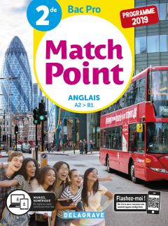 Match Point Anglais 2de Bac Pro (2019) - Pochette élève