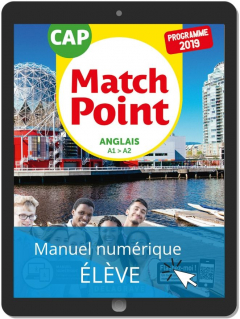 Match Point Anglais CAP (2019) - Pochette - Manuel numérique élève