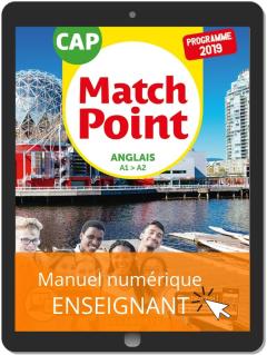 Match Point Anglais CAP (2019) - Pochette - Manuel numérique enseignant