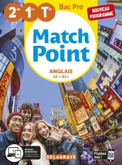 Match Point Anglais 2de, 1re, Tle Bac Pro (2020) - Pochette élève