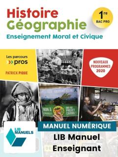 Histoire Géographie EMC 1re Bac Pro (2020) - Pochette - Manuel numérique enseignant