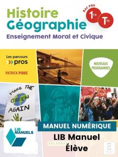 Parcours Pro HG Histoire Géographie EMC 1re, Tle Bac Pro (2021) - Pochette - Manuel numérique élève