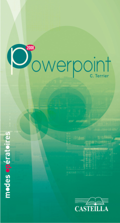 Modes opératoires PowerPoint 2007 - Manuel élève