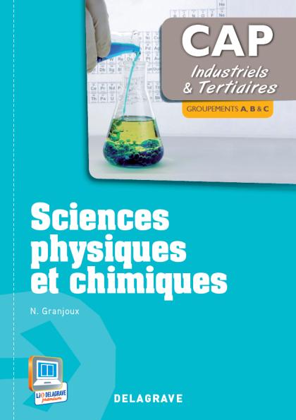 Sciences Physiques et chimiques - CAP industriels et tertiaires (2013) - Pochette élève