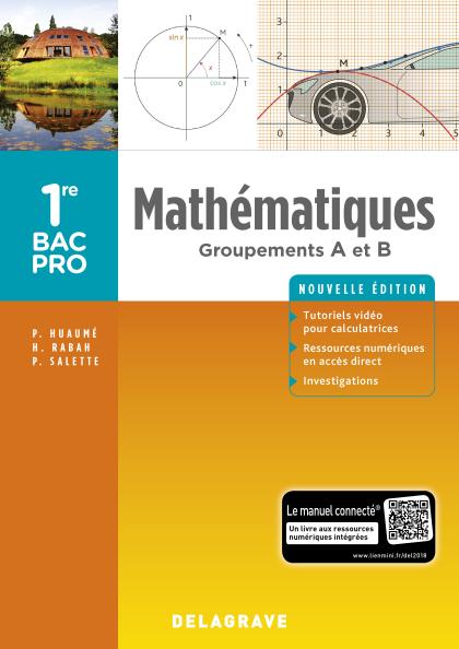 Mathématiques - Groupements A et B - 1re Bac Pro (2018) - Pochette élève