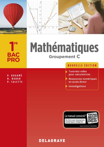 Mathématiques 1re Bac Pro Groupement C (2018) - Pochette élève