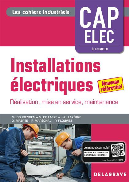 Installations électriques - CAP Electricien (2018) - Pochette élève