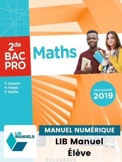 Maths 2de Bac Pro (2019) - Manuel numérique élève