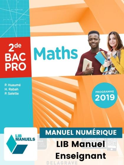 Maths 2de Bac Pro (Ed. num. 2021) - Pochette - Manuel numérique enseignant