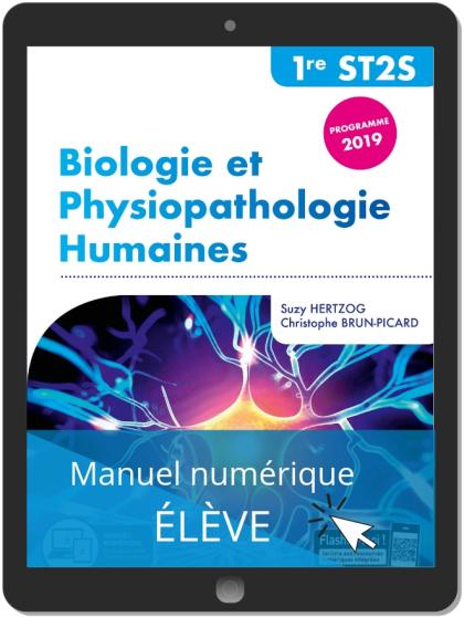 Biologie et physiopathologie humaines 1re ST2S (2019) - Pochette - Manuel numérique élève