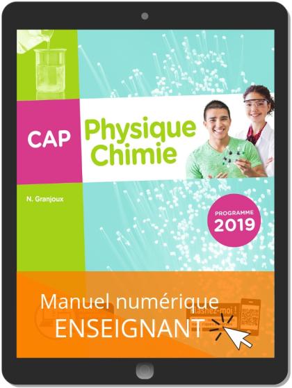 Physique - Chimie CAP (2019) - Manuel numérique enseignant