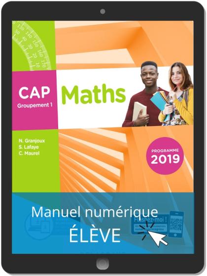 Maths CAP Groupement 1 (2019) - Manuel numérique élève