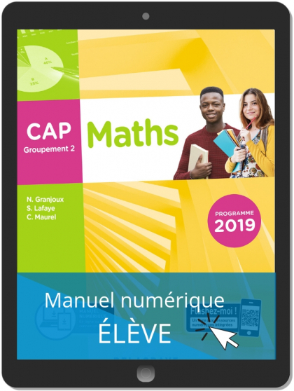 Maths CAP Groupement 2 (2019) - Manuel numérique élève