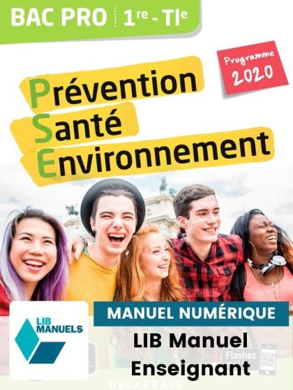 Prévention Santé Environnement (PSE) 1re, Tle Bac Pro (Ed. num. 2021) - Pochette - Manuel numérique enseignant