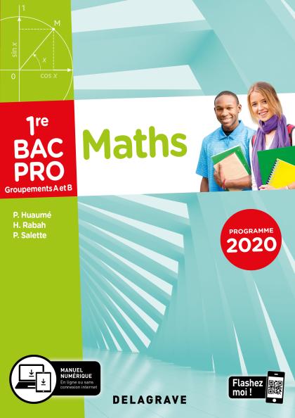 Mathématiques - Groupement A et B - 1re Bac Pro (Ed. num. 2021) - Pochette élève