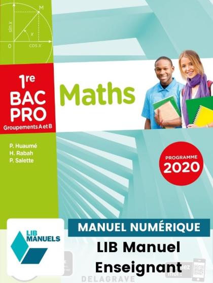 Mathématiques - Groupement A et B - 1re Bac Pro (2020) - Pochette - Manuel numérique enseignant