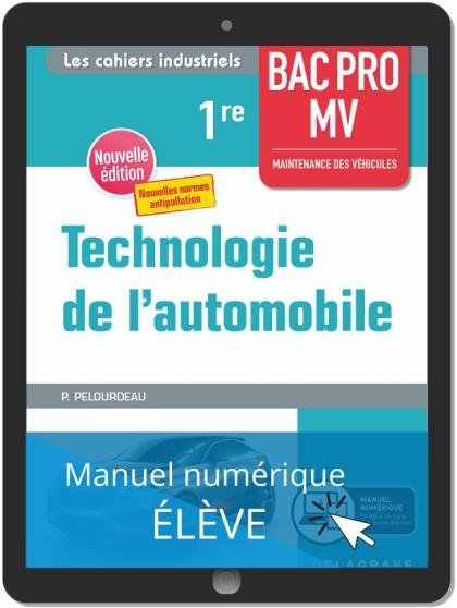 Technologie de l'automobile 1re Bac Pro MV (2020) - Pochette - Manuel numérique élève