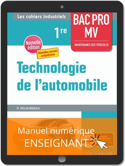 Technologie de l'automobile 1re Bac Pro MV (2020) - Manuel numérique enseignant