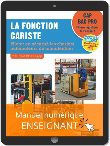 La fonction cariste CAP, Bac Pro (2020) - Pochette - Manuel numérique enseignant