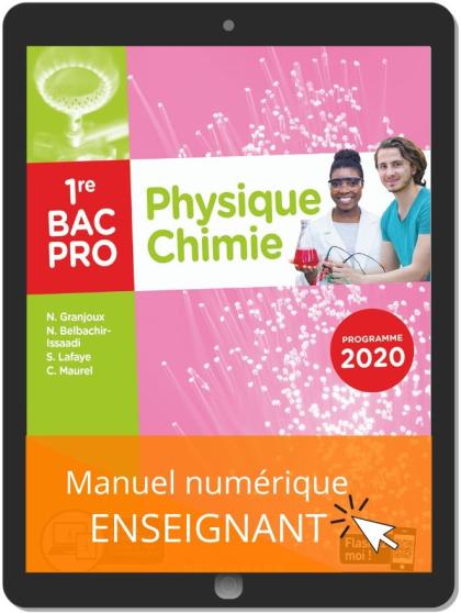 Physique - Chimie 1re Bac Pro (2020) - Manuel numérique enseignant