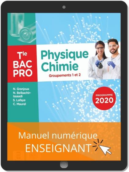 Physique - Chimie Tle Bac Pro G1, G2 (2021) - Pochette - Manuel numérique enseignant