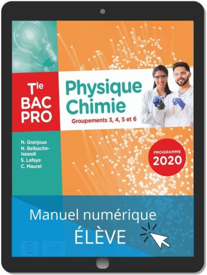 Physique - Chimie Tle Bac Pro G3, G4, G5, G6 (2021) - Pochette - Manuel numérique élève