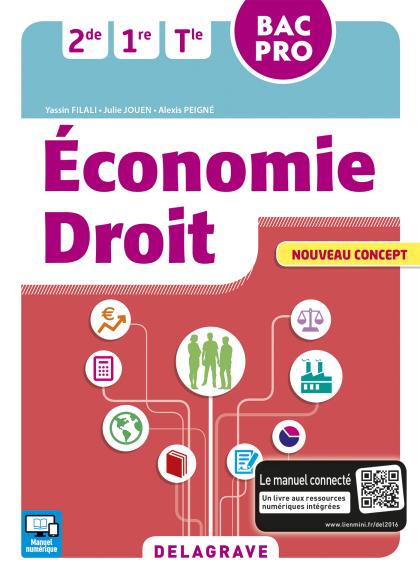 Économie Droit 2de, 1re, Tle Bac Pro (2016) - Pochette élève