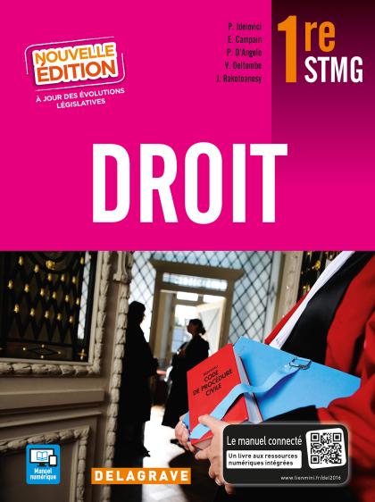 Droit 1re STMG (2016) - Manuel élève