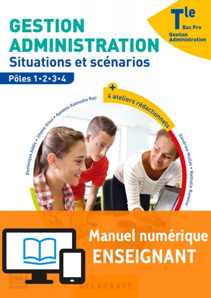 Gestion Administration Tle Bac Pro GA (2017) - Pochette - Manuel numérique enseignant