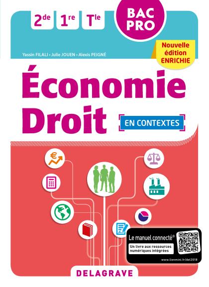 Economie Droit 2de, 1re, Tle Bac Pro (2018) - Pochette élève