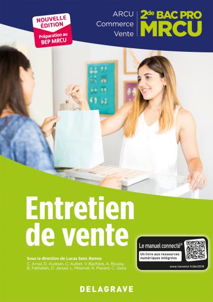 Entretien de vente 2de Bac Pro MRCU (2018) - Pochette élève