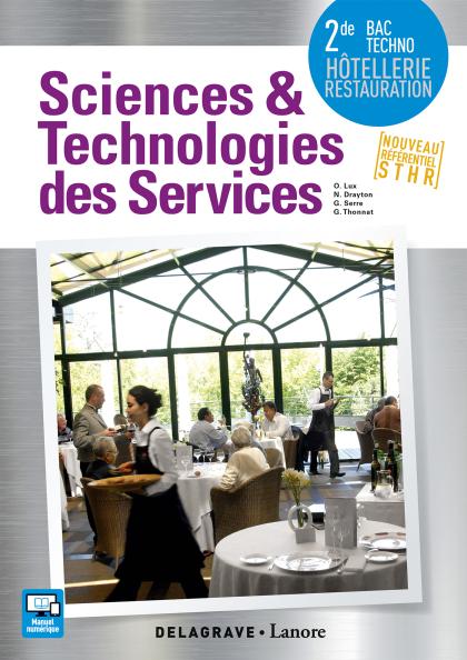 Sciences et Technologies des Services (STS) 2de Bac Techno STHR (2016) - Pochette élève