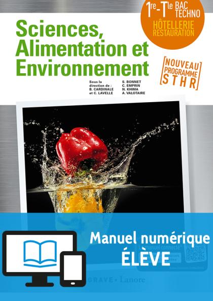 Enseignement Scientifique Alimentation-Environnement 1re, Tle STHR (2018) - Pochette - Manuel numérique élève