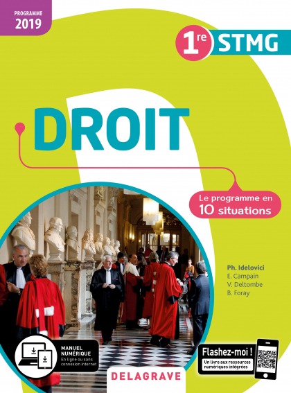 Droit 1re STMG (2019) - Pochette élève