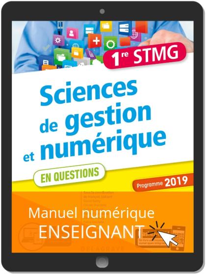 Sciences de gestion et numérique 1re STMG (2019) - Pochette - Manuel numérique enseignant