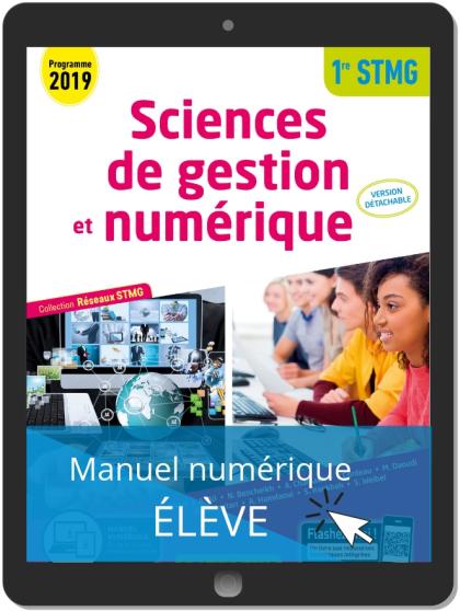 Sciences de gestion et numérique 1re STMG (2019) - Pochette - Réseaux STMG - Manuel numérique élève