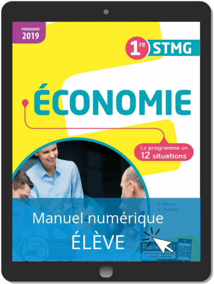 Économie 1re STMG (2019) - Pochette - Manuel numérique élève